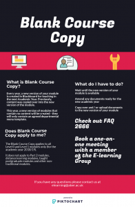 Blank Course Copy infographic