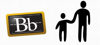 Image of Blackboard logo and parent-child