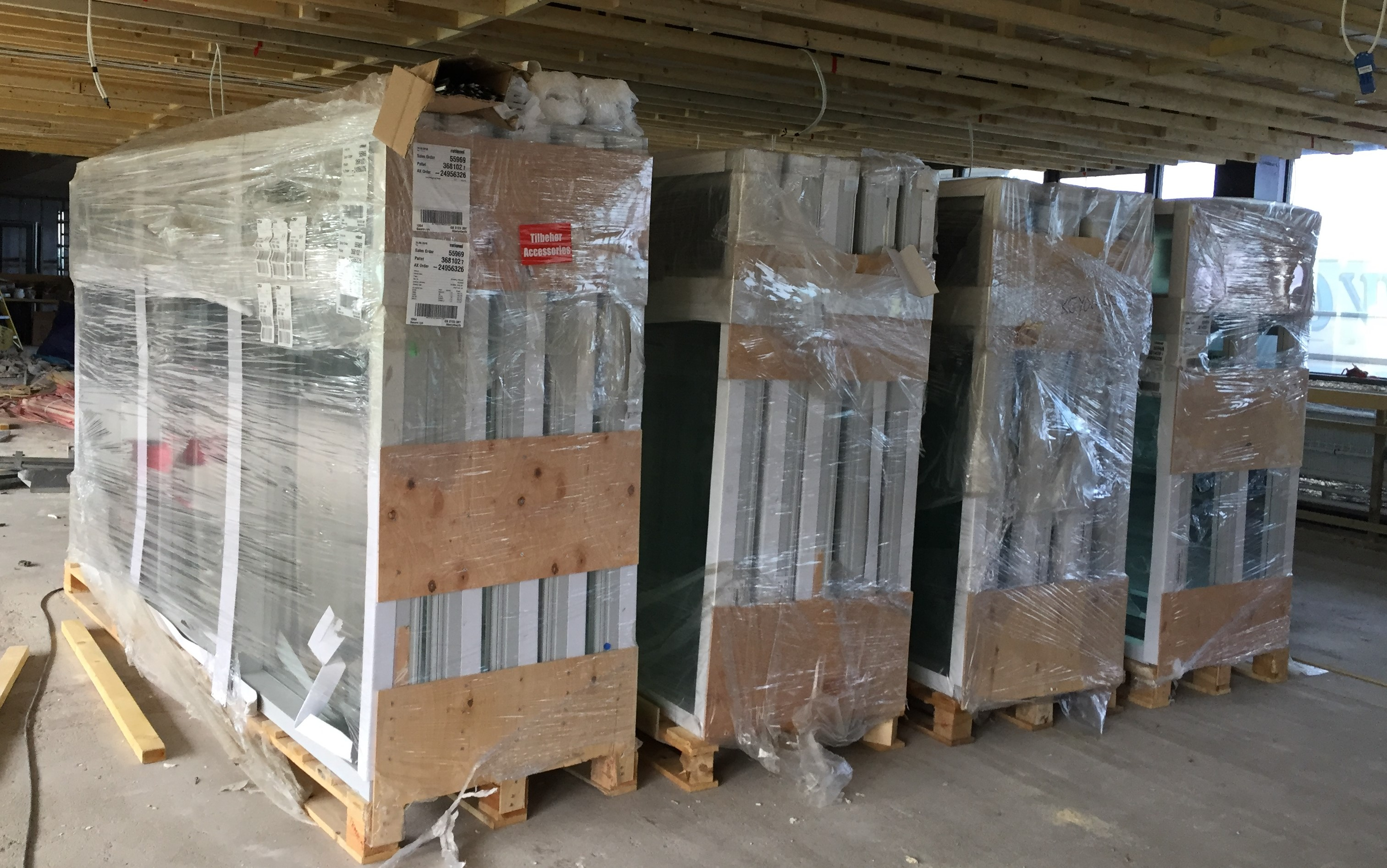 new windows delivered, ready to unpack
